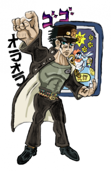 20160905p3- Jotaro stardust 17 convention badge.png