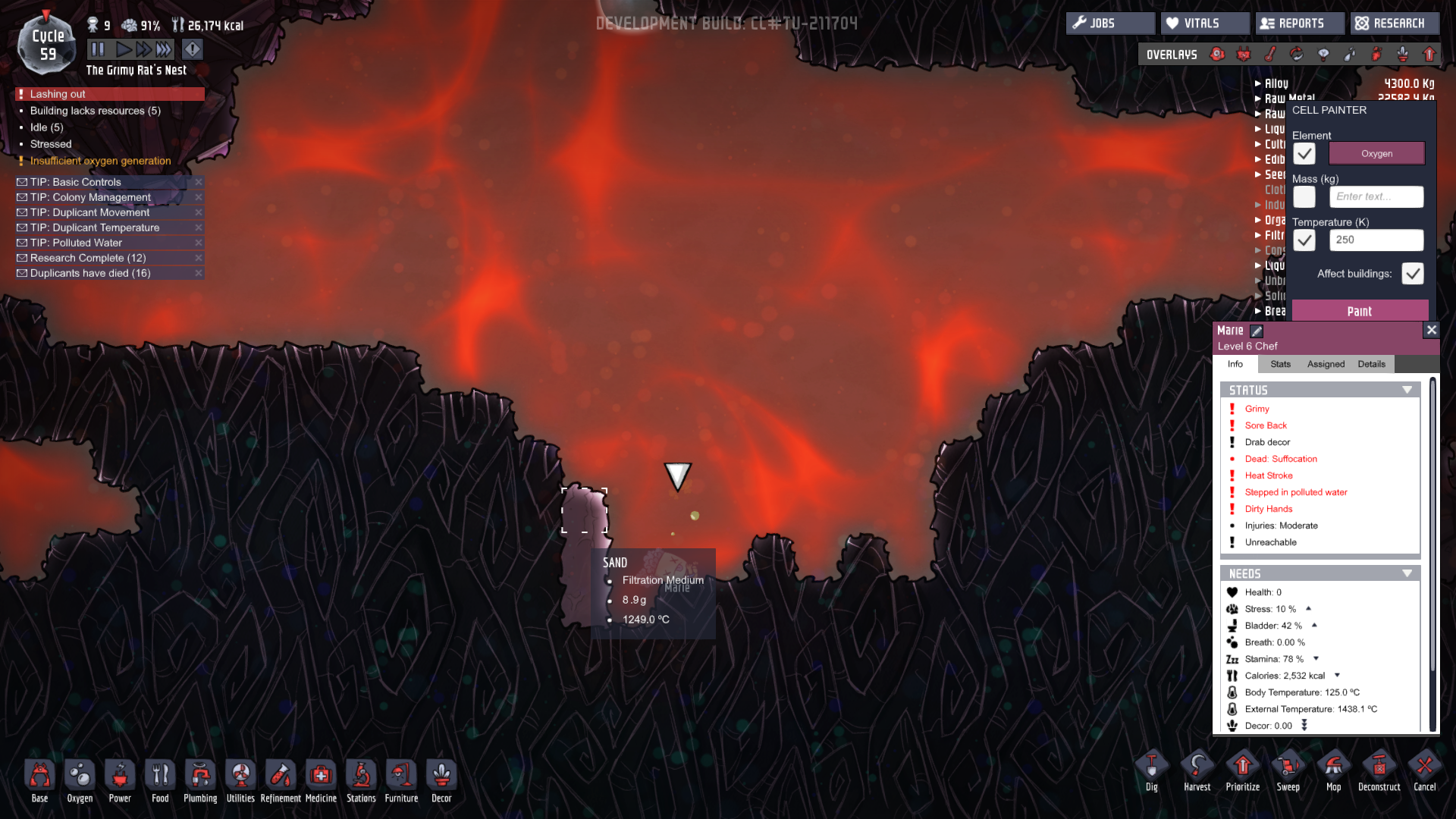 Puke + Magma = sand - [Oxygen Not Included] - General
