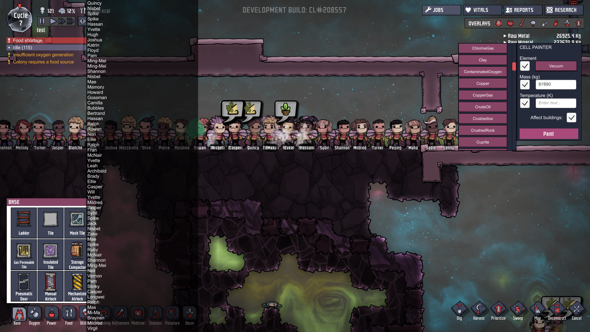 fun with debug tools! - [Oxygen Not Included] - General