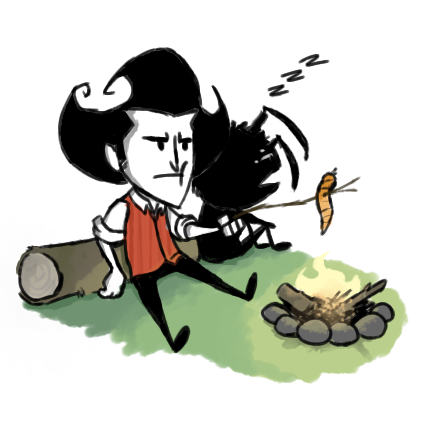 Wilson and Webber by the fire.png