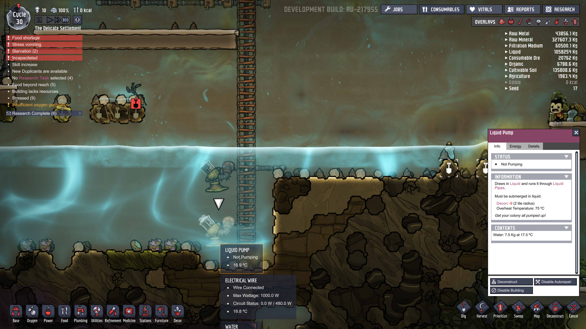Water Pumps and pipes not working as intended - Oxygen Not Included