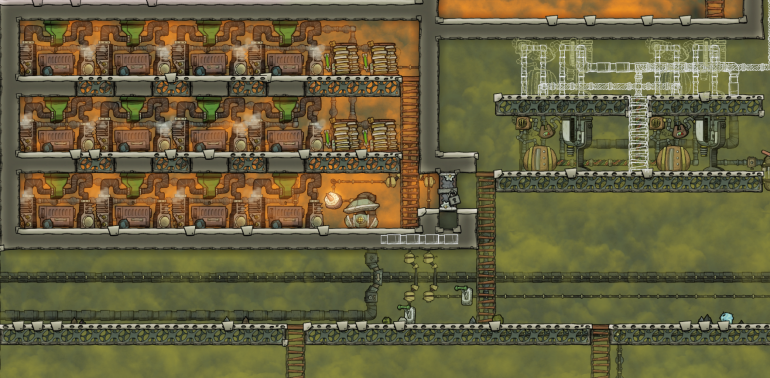 how to get rid of overpressurisation in oxygen not included