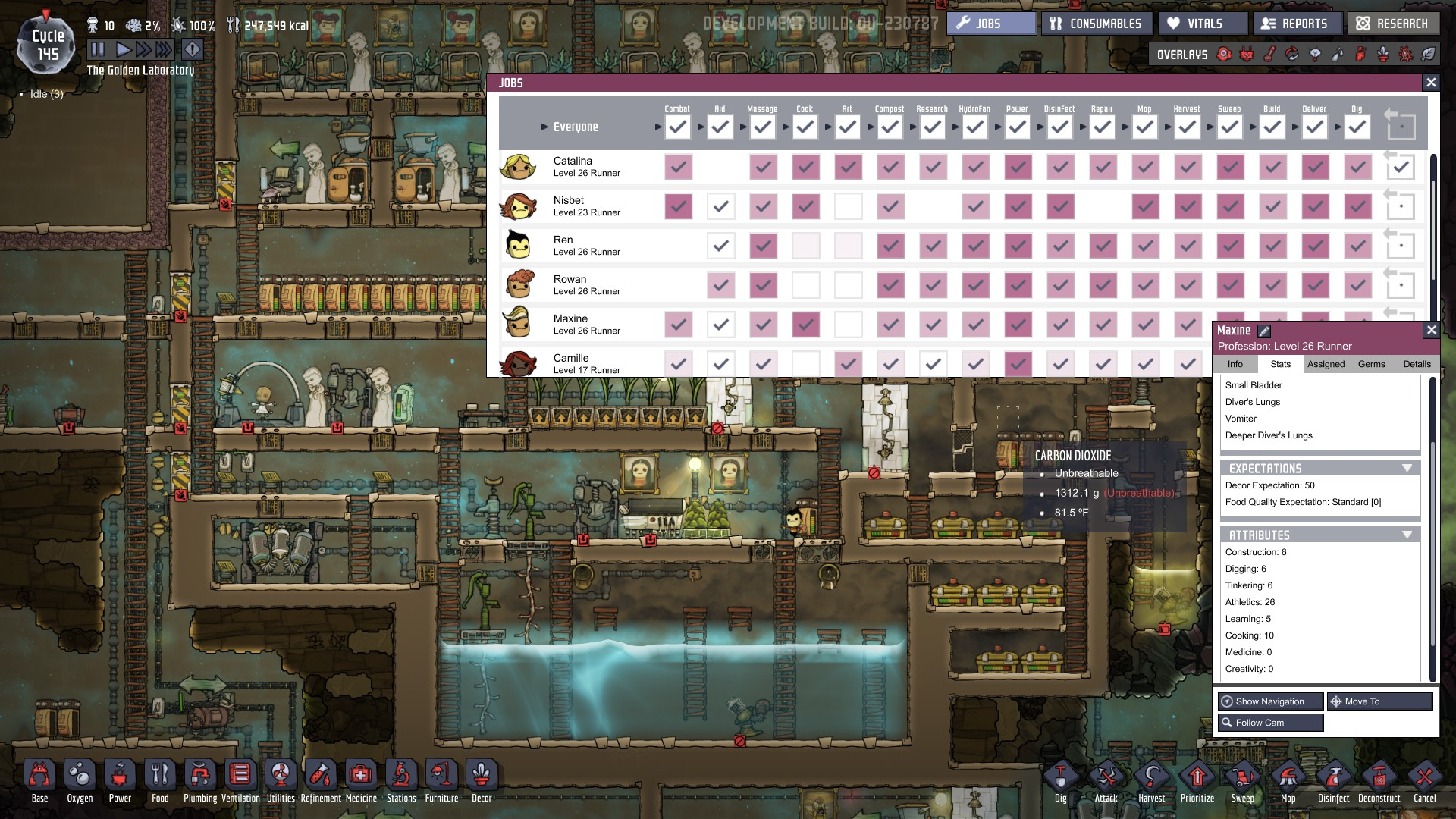Reach the Asteroid surface - [Oxygen Not Included