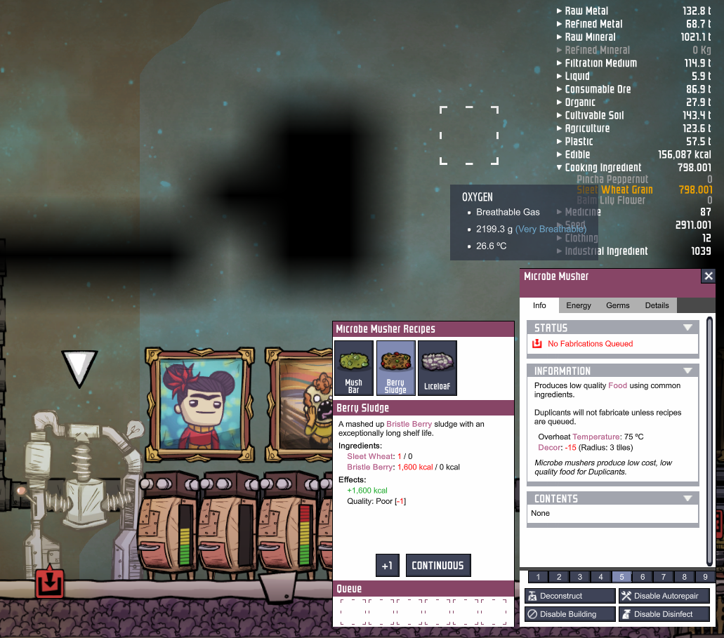 Oxygen Not Included Duplicant Not Making Food