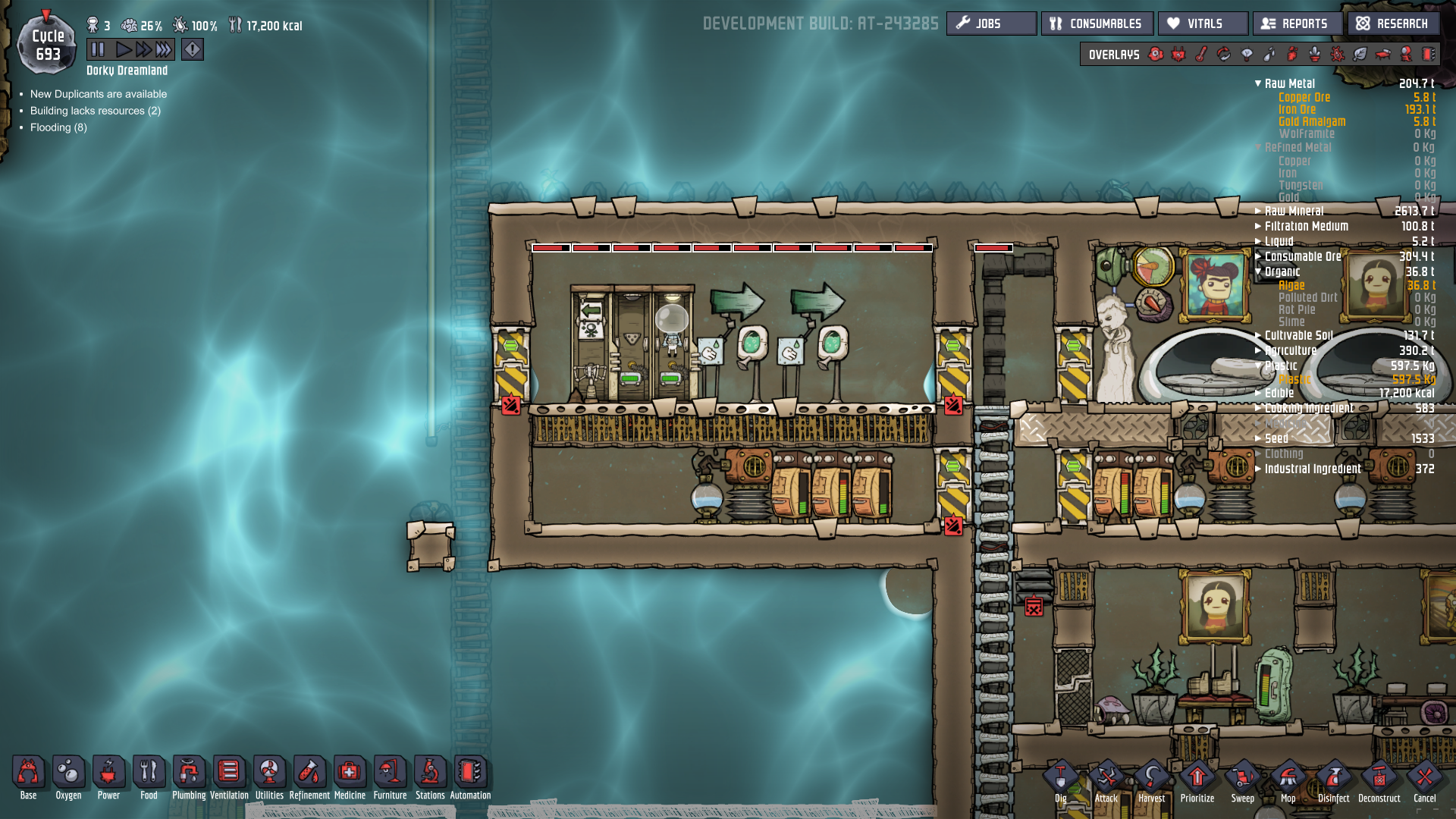 Oxygen Not Included Base Design - minimalist interior design