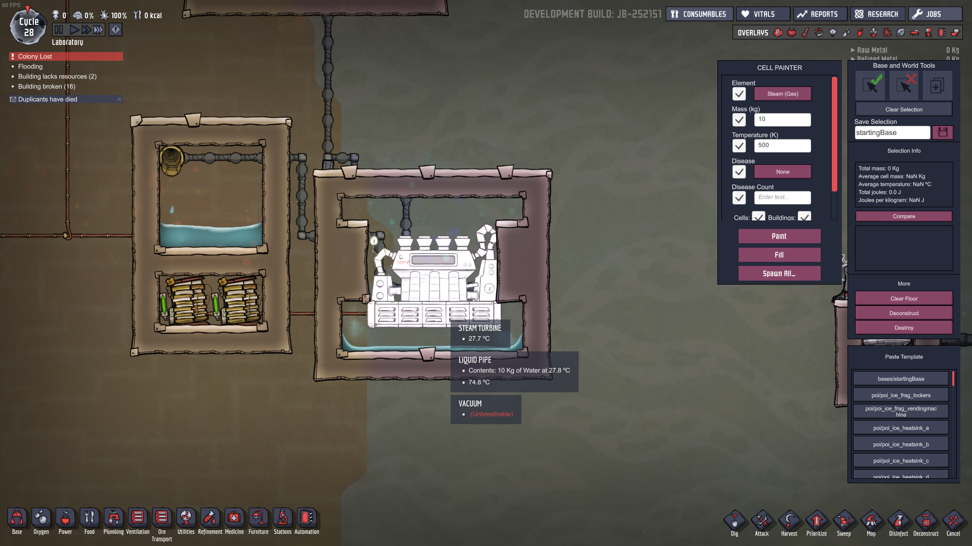 Occupational Upgrade Steam Turbine - [Oxygen Not Included] - General