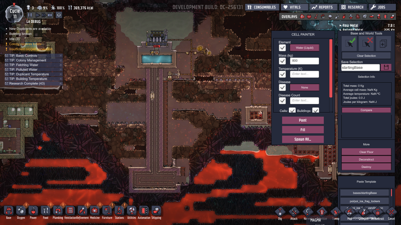 Oxygen Not Included Magma Biome