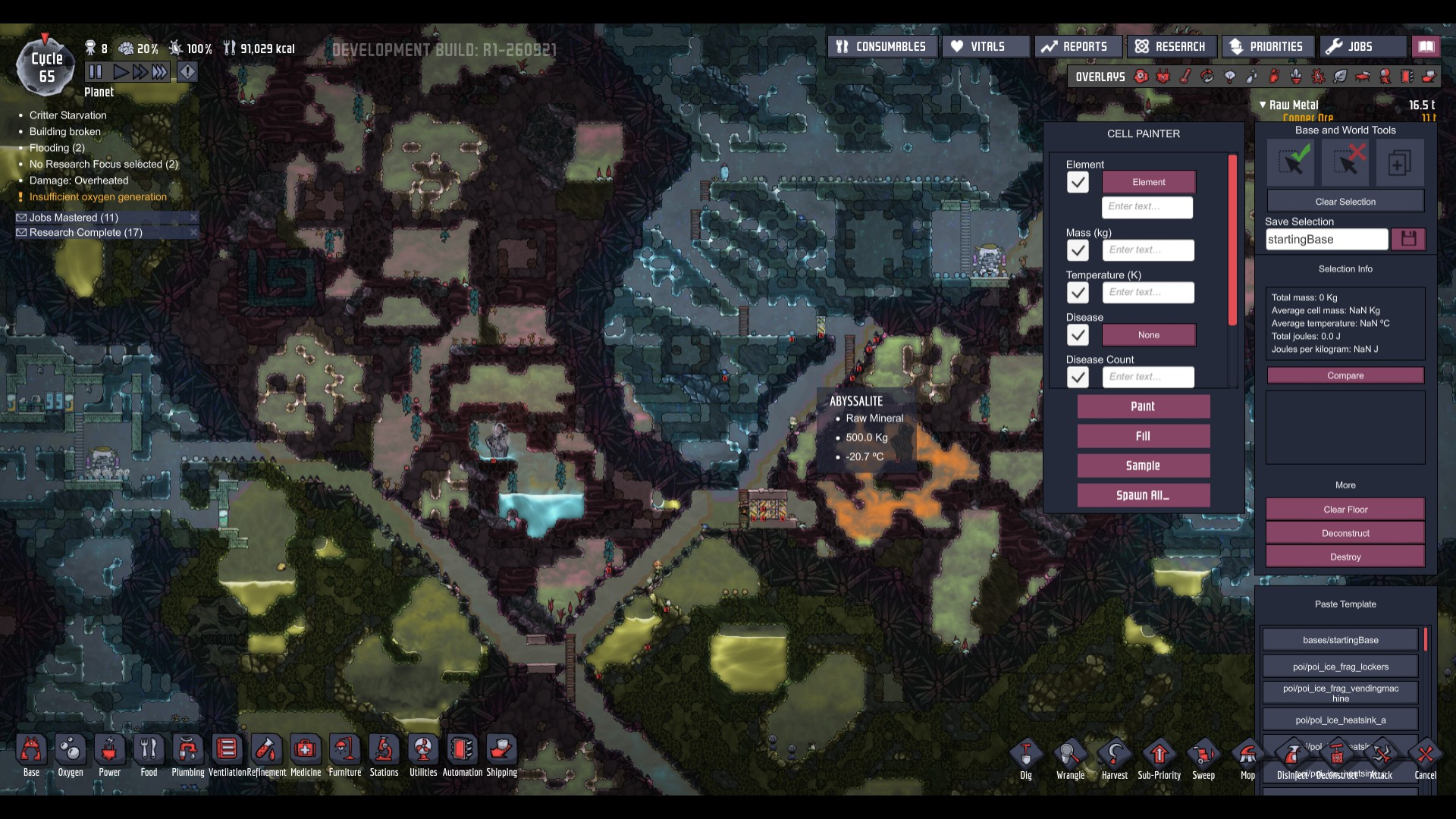 Oxygen Not Included Map Seed Viewer