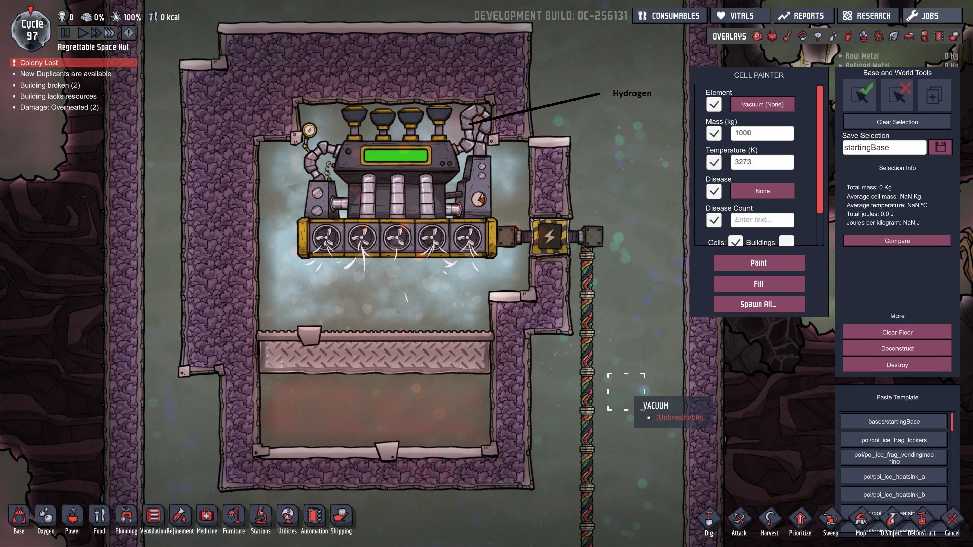 Steam Turbine cooling value? - [Oxygen Not Included] - General