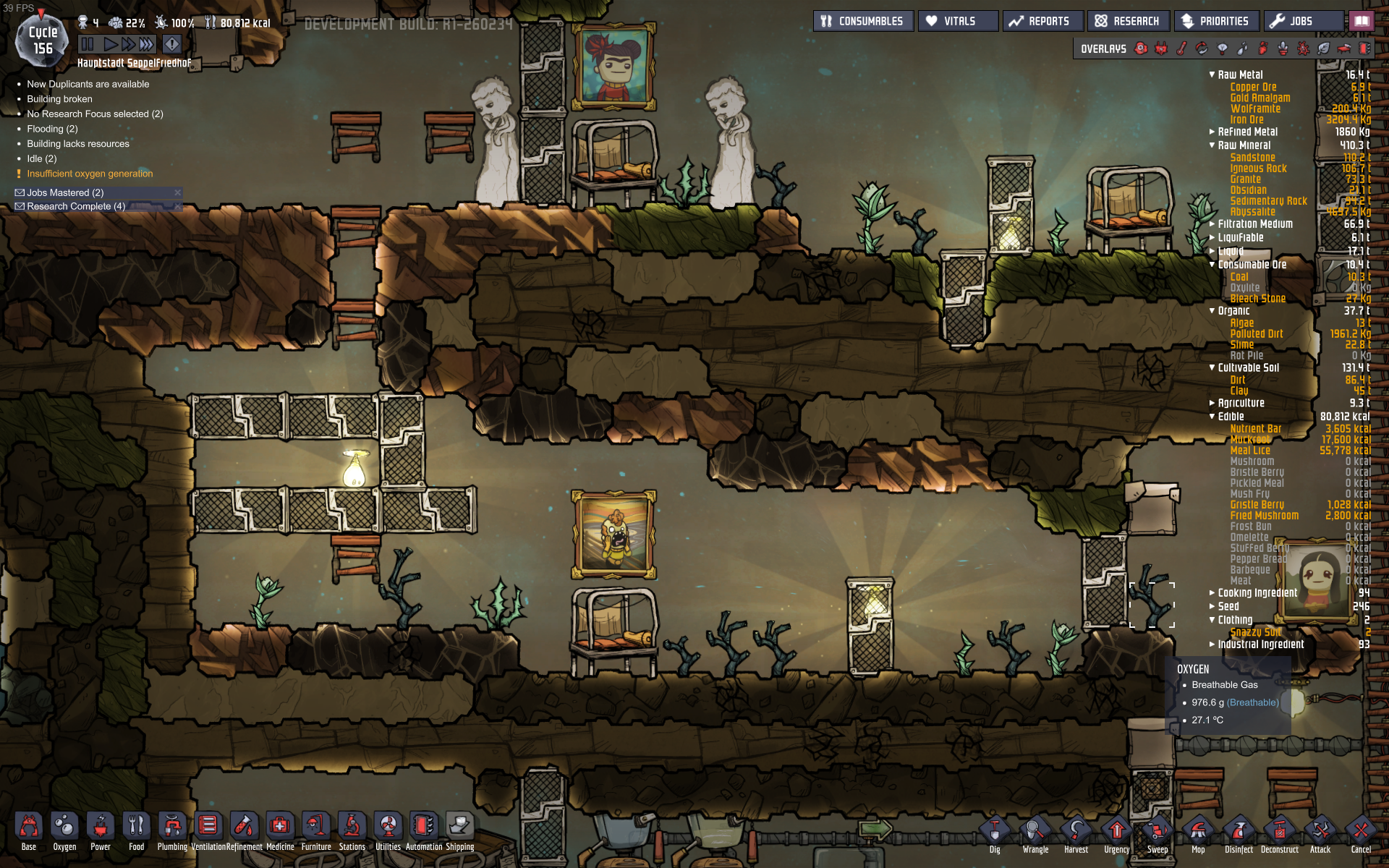 Only 7 Wheezeworts on my map  And yours? - [Oxygen Not Included