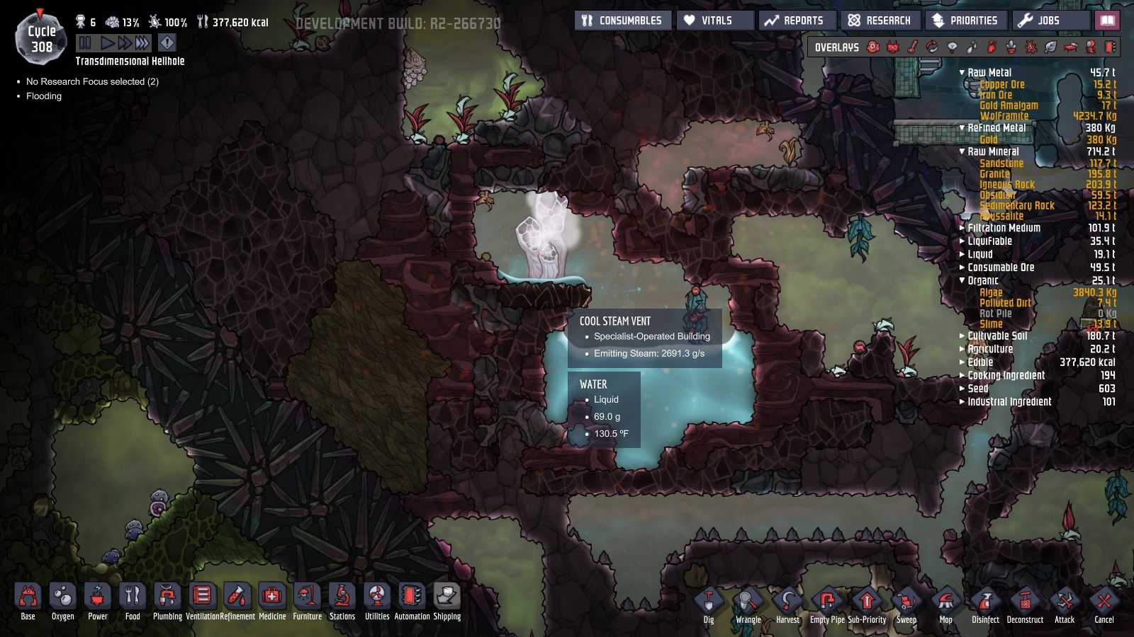 Cool Steam Vent And Steam Vent Mislabeled - Oxygen Not Included