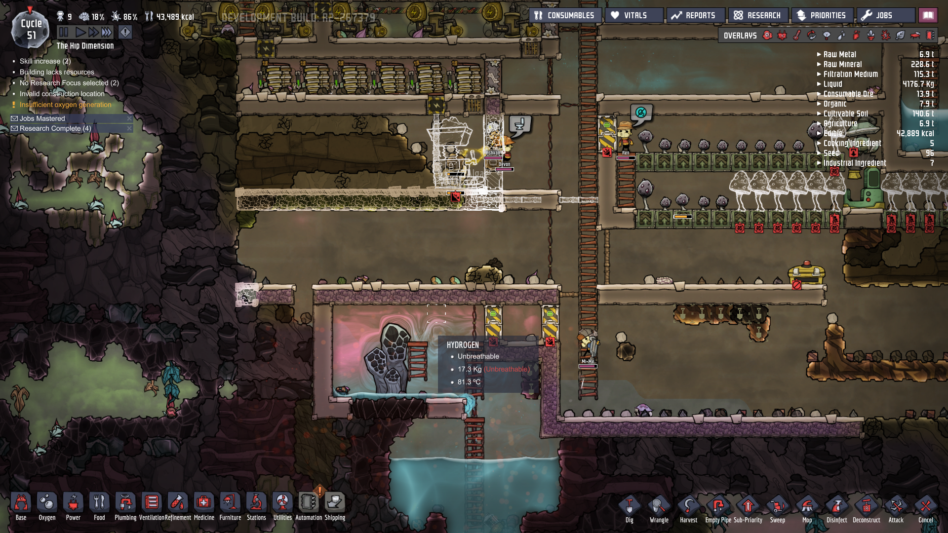 Steam vent emitting hydrogen? - Oxygen Not Included - Klei