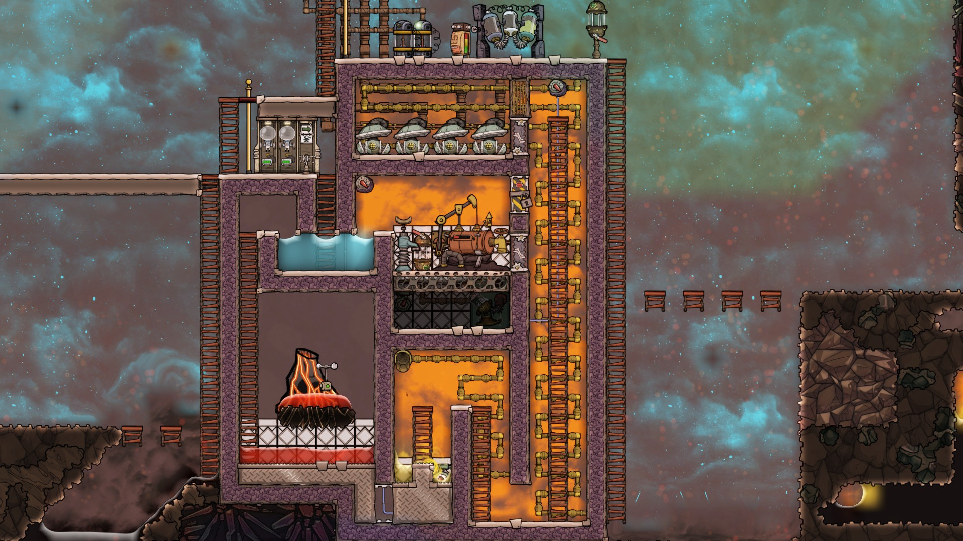 My oil to natural gas boiler design - [Oxygen Not Included