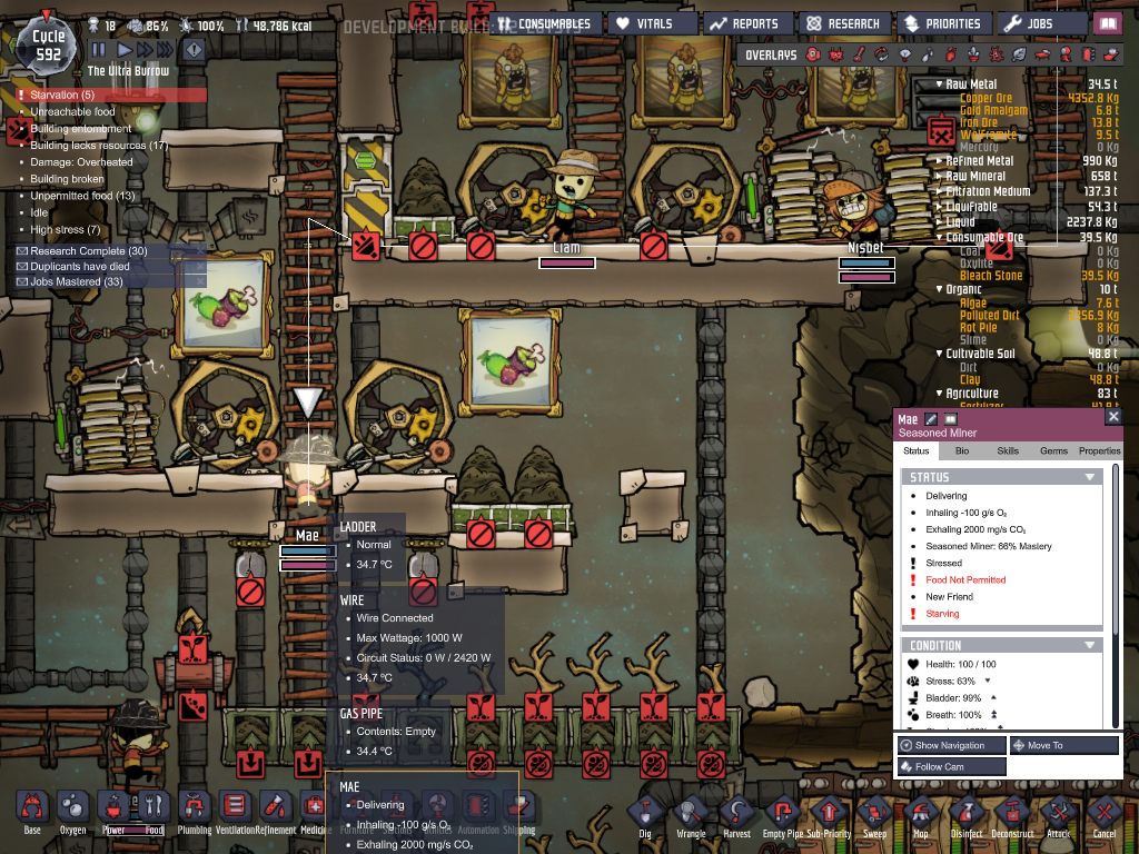 Food Not Permitted Bug - Oxygen Not Included - Klei Entertainment Forums