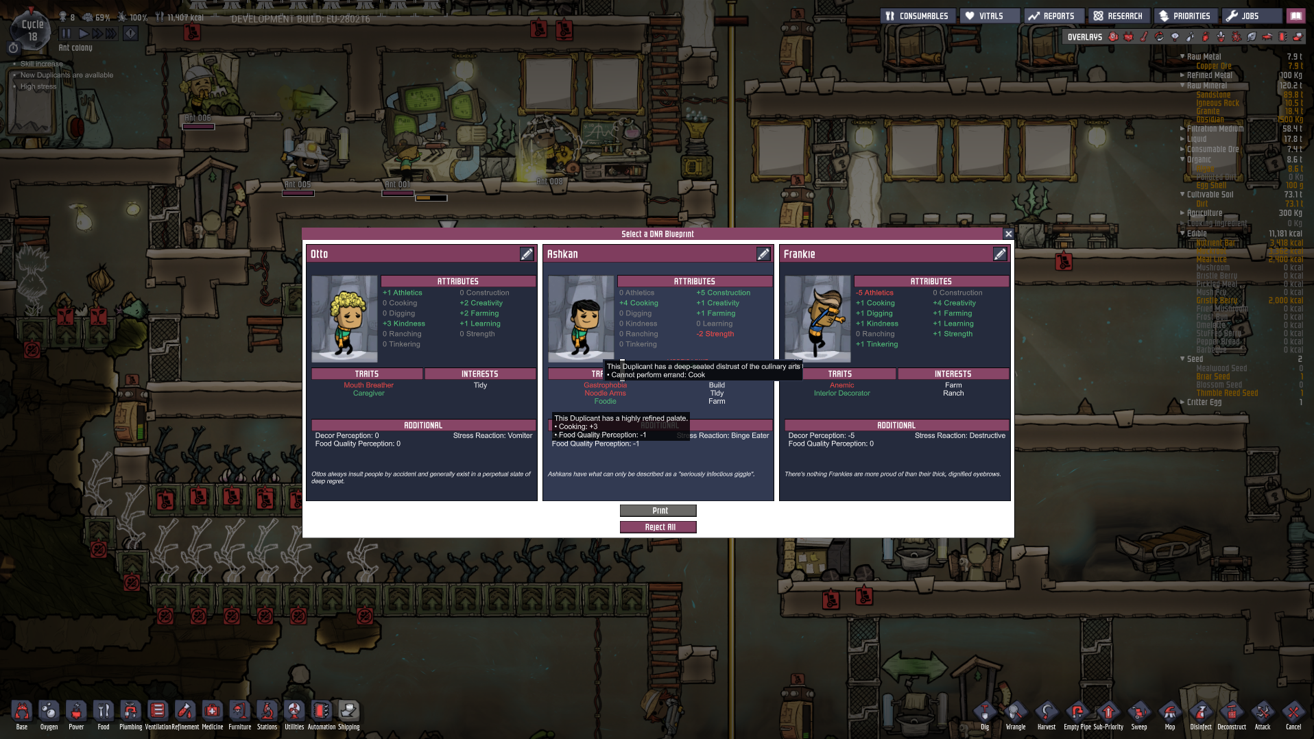 Conflicting traits - Oxygen Not Included - Klei Entertainment Forums