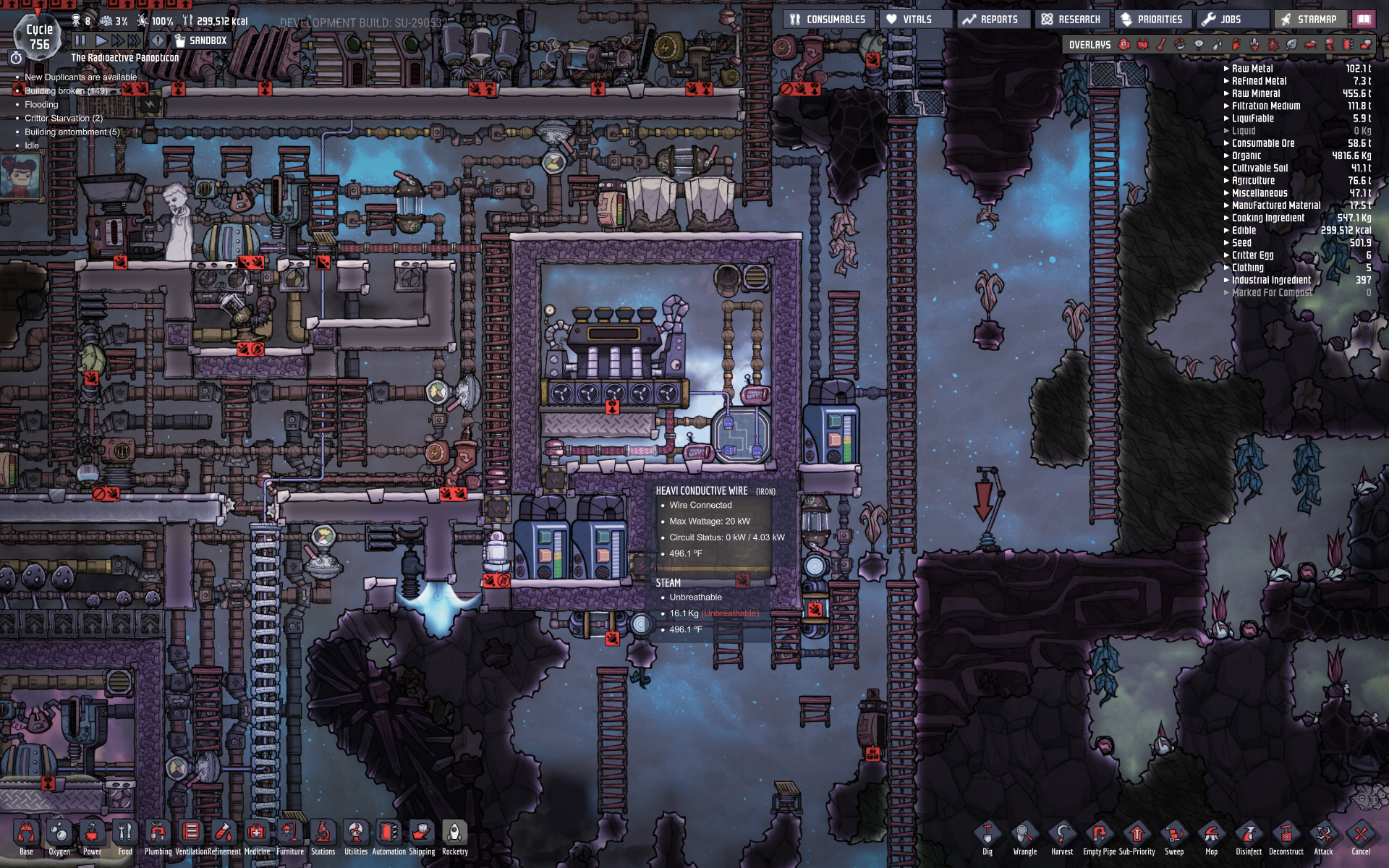 Steam turbine deletes steam - Oxygen Not Included - [Early Access