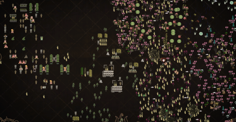 Black Map showing icons of tress, rocks, bushes... - Don't ... on bloodborne map, dark souls map, dead rising 3 map, dragon age: inquisition map, h1z1 map, dying light map, five nights at freddy's map, strider map, lords of the fallen map, damnation map, assassin's creed unity map, crackdown 2 map, icewind dale map, destiny map, axiom verge map, the crew map, terraria map, project zomboid map, the elder scrolls online map, everybody's gone to the rapture map,