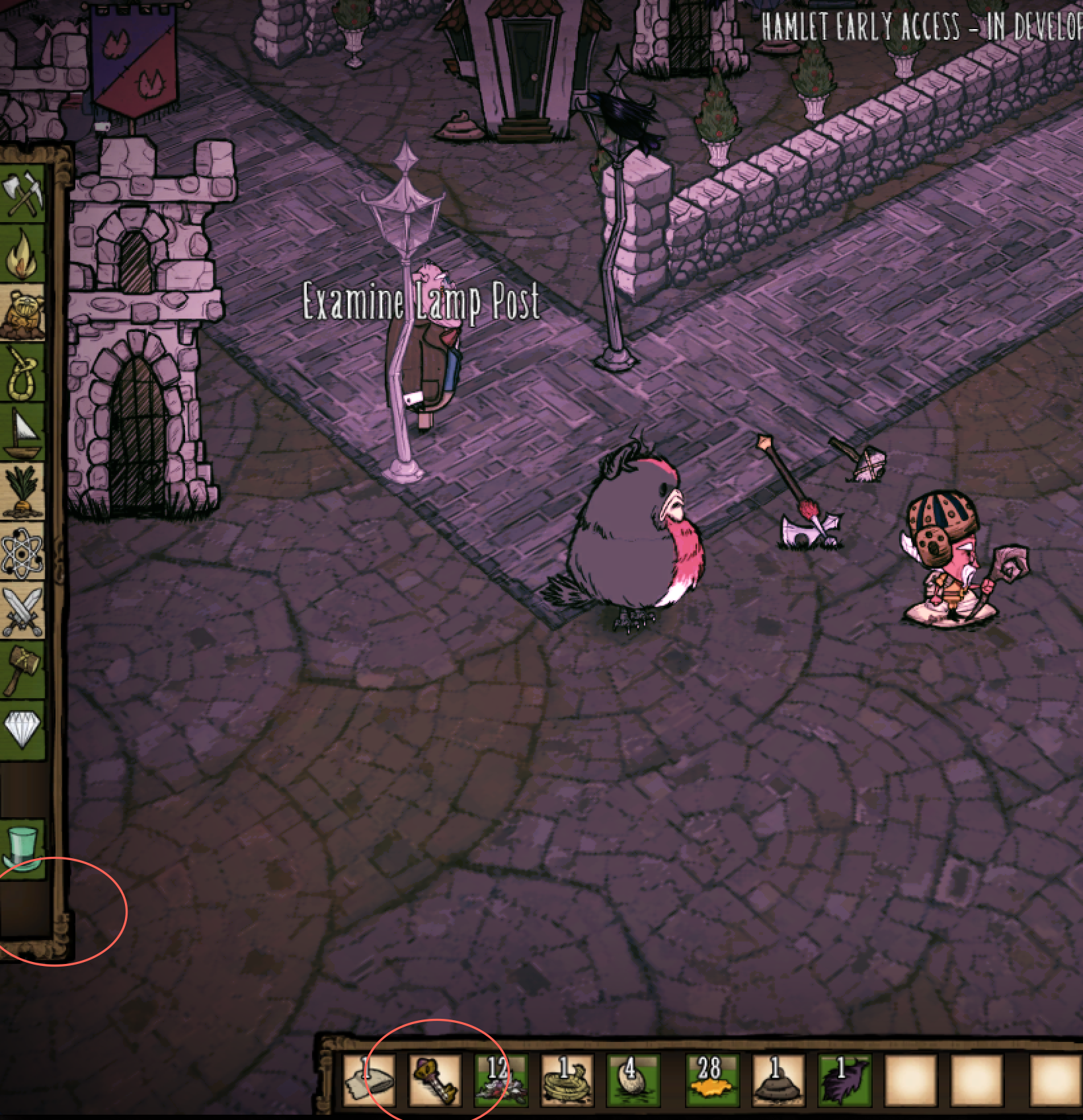 City Planning Tab disappear - Don't Starve: Hamlet Early