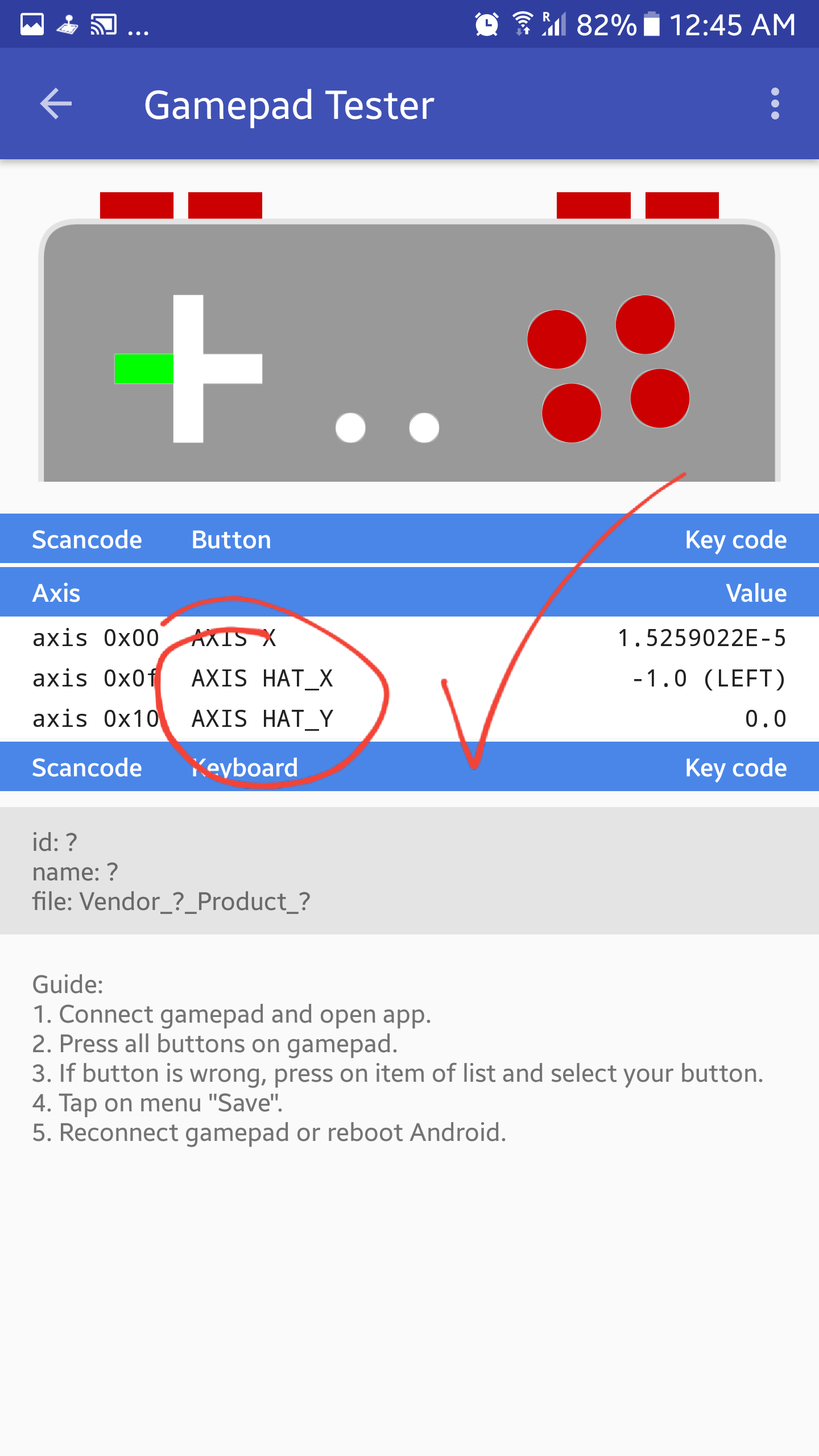BUG]PlayStation Sixaxis 3 - D-Pad not working in DS and