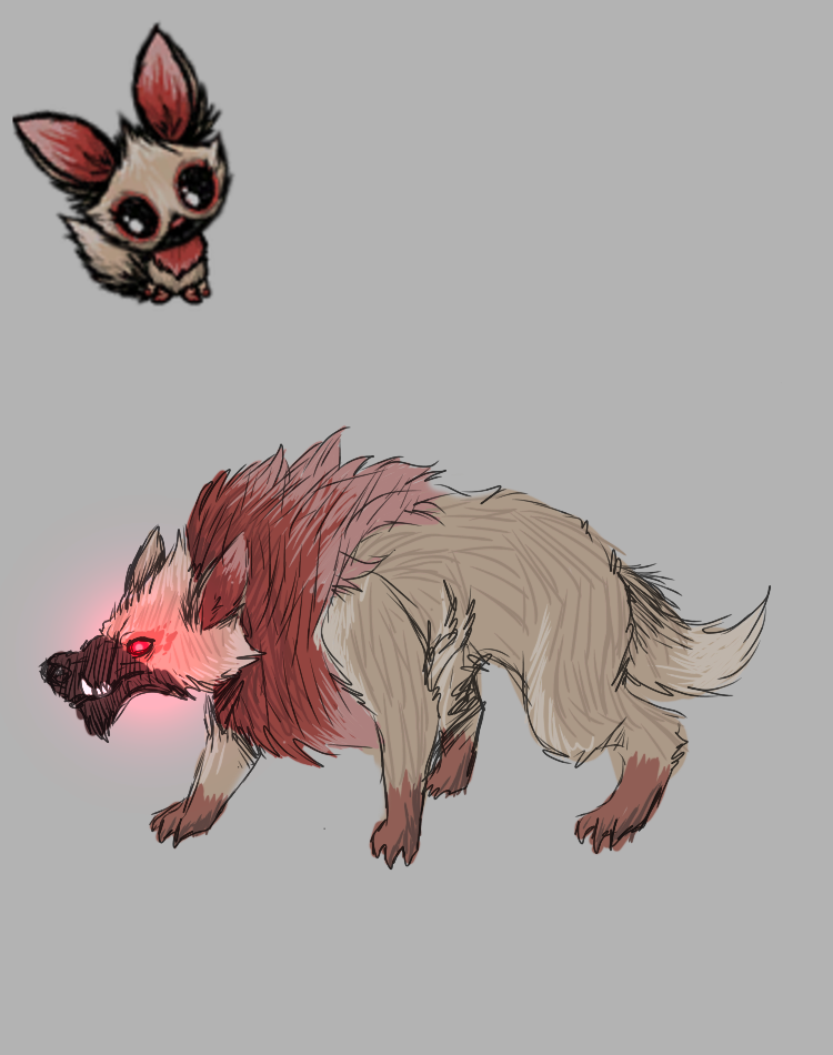 A rabid pog design for the Aporkalypse - [Don't Starve] Art