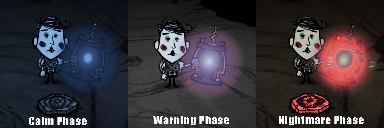 Tesla Coil Lantern works with Nightmare Cycle? - [Don't Starve