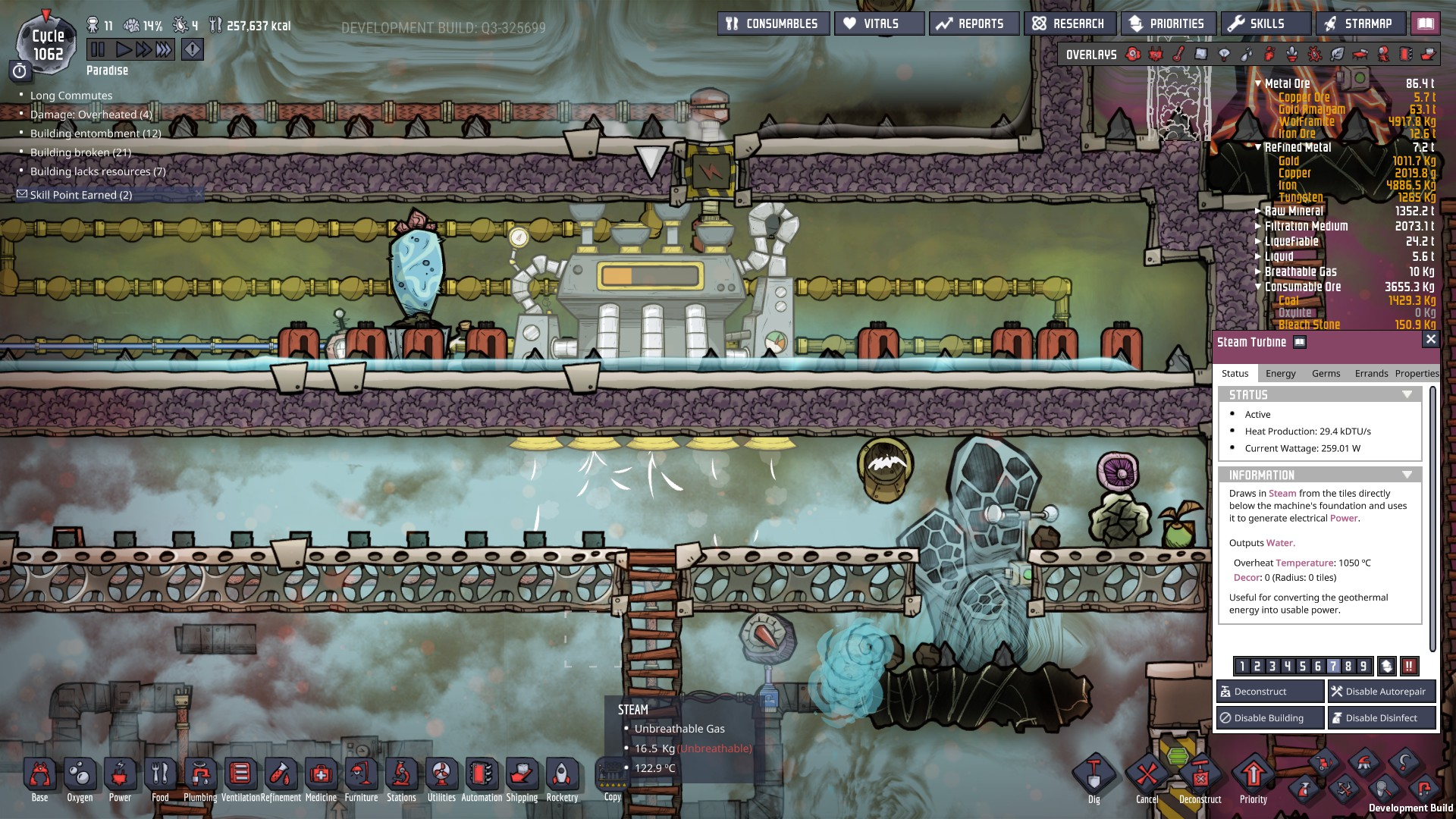 steam turbine performances - [Oxygen Not Included] - General