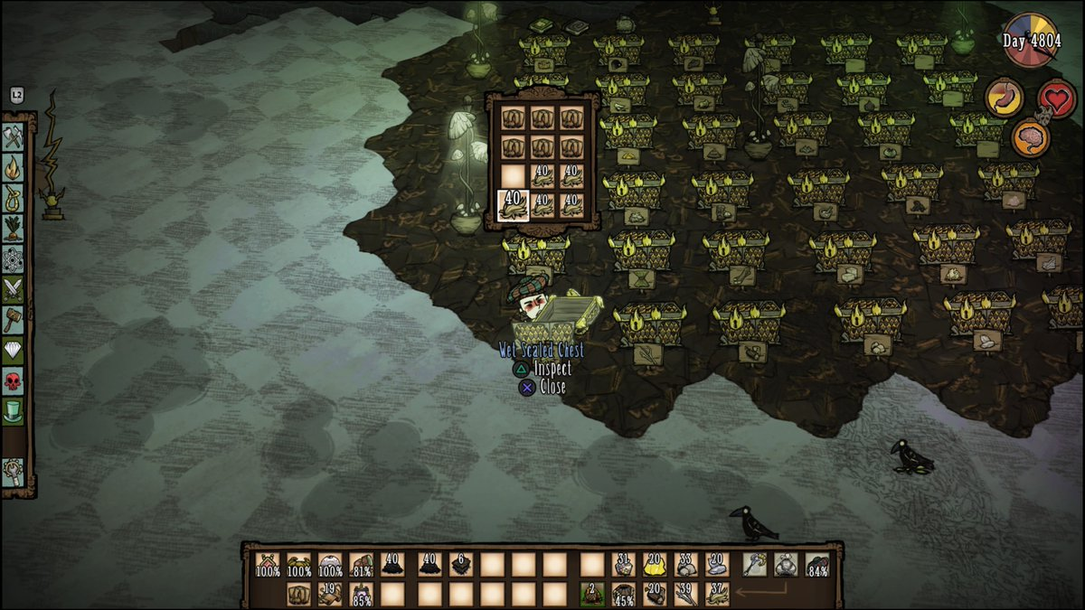 Items names missing - [Don't Starve Together] PS4 - Klei