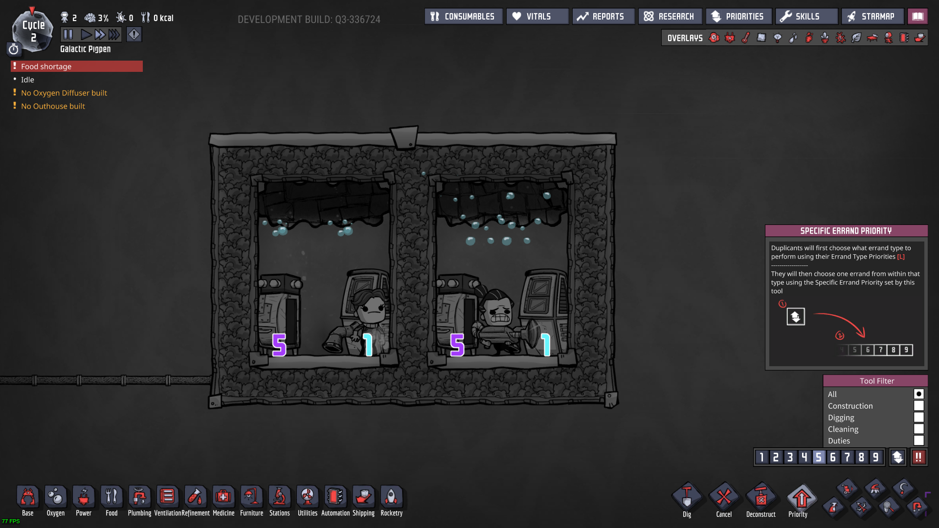 Automatic Dispenser storage priority is bugged - Oxygen Not