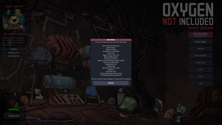 Game Update] - 364722 - [Oxygen Not Included] - General